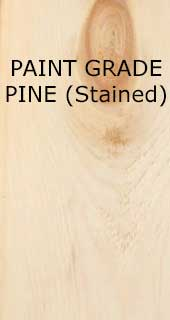 Paint Grade Pine (Stained)